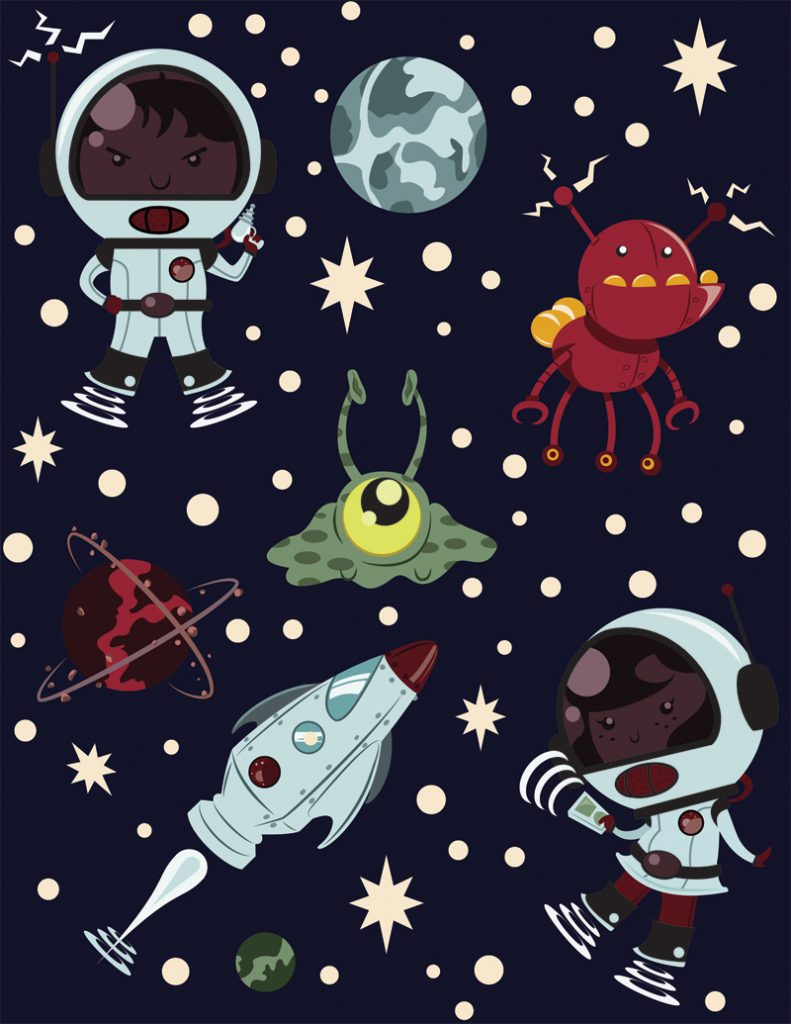Space Kids Character Design