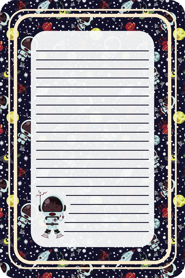 Space Kids Notepad