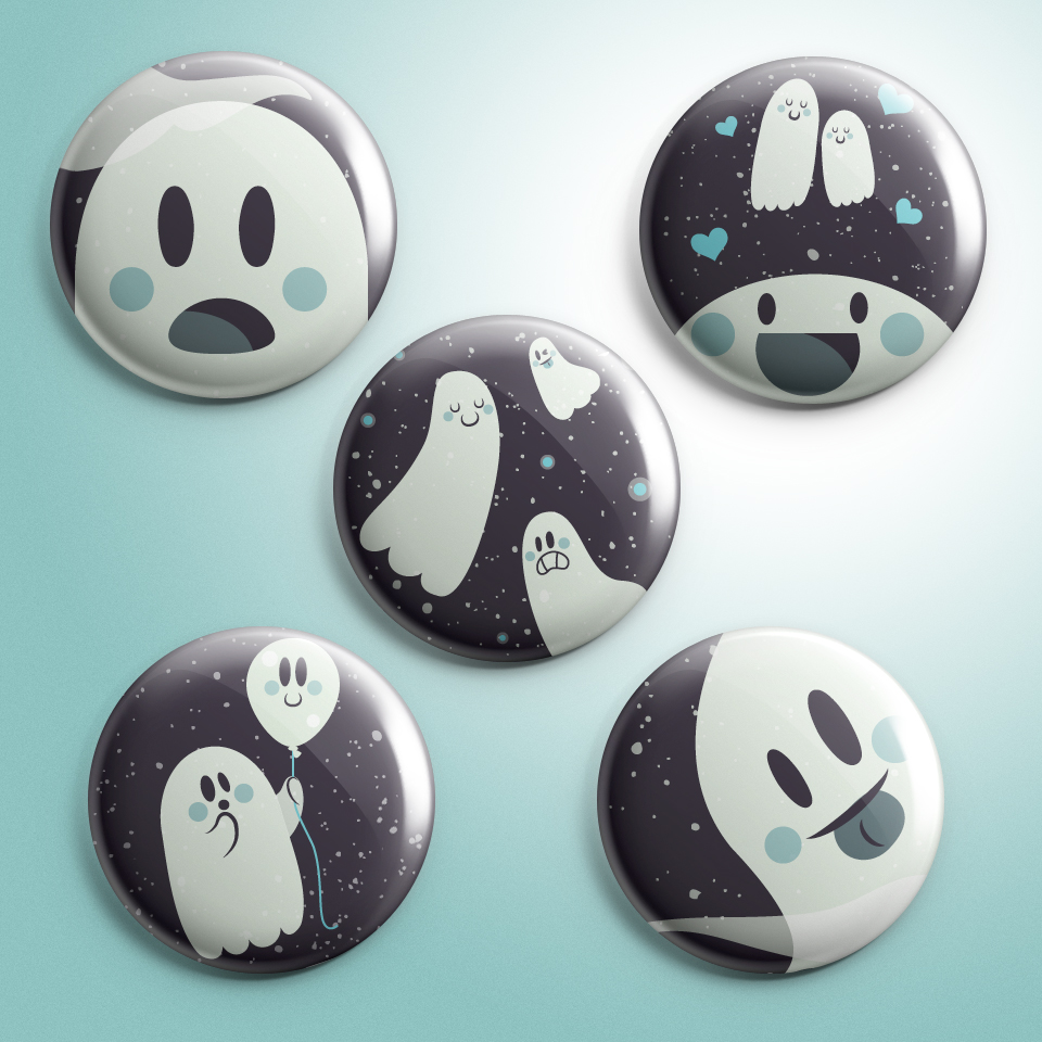 Ghosty Buttons